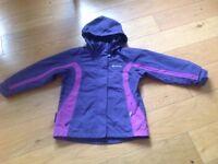 Girls purple jacket age 7-8 mountain warehouse
