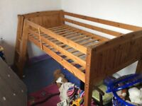 child,s wooden bunk bed free to collector