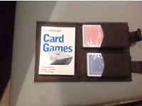Playing cards In wallet with card game book - NEW