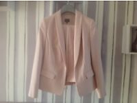 Pink straight legged summer trouser suit