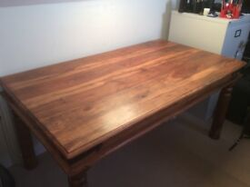 Solid Indian Sheesham dining table 160cm x 91.5cm