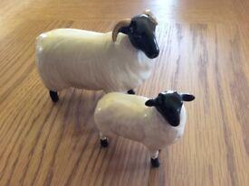 Beswick sheep and lamb