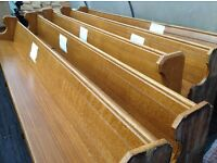 Reclaimed vintage antique wooden church pew 4M