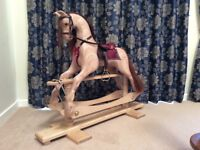 NEW Beautiful Hand Carved Rocking Horse