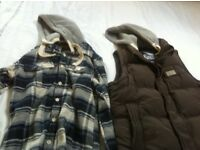 Men's superdry gilet and shirt size L