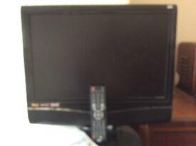 Bush 19'' HD Ready Digital LCD TV + DVD, iPod dock