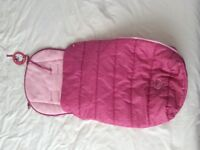 Brand new with tags pink Hello Kitty footmuff / cosytoes / sleeping bag
