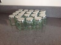 Glass jars jam craft wedding brand new x20