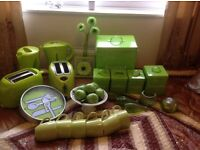 Loads of lime green kitchen accessories every thing you need