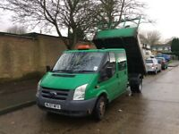 2007/07 FORD TRANSIT 100 T350L D/C .CREW CAB TIPPER. 6 SEATER. VERY GOOD CONDITION, DRIVES PERFECT