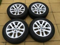 Set of BMW Alloys with Winter Tyres (205/55/16)