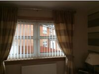 Stunning quality two sets of gold /silver curtains immaculate