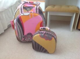 Roxy suitcase and mini suitcase set very cheap price as quick sell needed