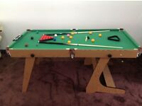 Hy-pro 6ft Folding Snooker and Pool Table with Full set of Balls and accessories