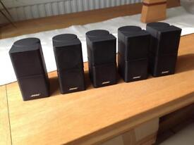 Bose Acoustimass Lifestyle double Cube Surround Sound Home Cinema Speakers