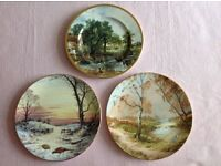 Two Decorative Plates by Royal Doulton, and One plate by Finsbury