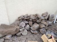 Load of grey stones, various shapes and sizes, collection only