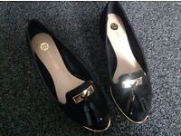 River island black loafers