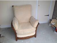 Beautiful Ercol renaissance easy chair .