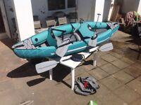Inflatable two man kayak
