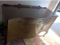 vintage antique chest and drawers serpentine front