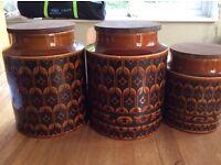 Kitchen storage jars Hornsea Heirloom design x3