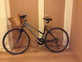Bicycle with basket and lock