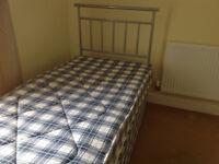 Single Divan Bed, Mattress and Headboard - hardly used