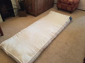 Single futon mattress with cover