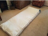 Single futon mattress with cover