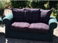 Settee and matching armchair
