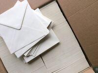 1000 Envelopes, 155x155 Pastel Ivory. Craft, Cardmaking, Wedding, Office.