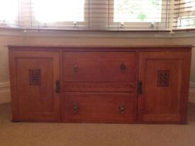 Solid chest of drawers with two cupboards