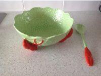 Crown Devon Salad bowl and server