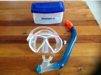Beuchat high quality dive mask with purge snorkel and case