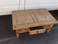 Pine Coffee Table / TV Stand