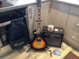 FANTASTIC LEARNERS SET UP: GUITAR, AMP, STAND, GIG BAG, LEAD, CAPO and