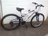 Women's dual suspension mountain bike