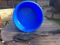 Koi carp viewing bowl and sock net