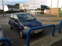 Toyota Yaris 1.0l 1999 81000 miles, cheap insurance, small engine, best for learners and new drivers