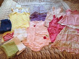 Girls Summer clothes bundle Age 12 - 18months