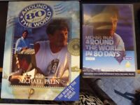 Collection of Michael Palin Travel Original DVD sets and Travel books