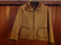Faux fur/suave jacket size 14/16. Immaculate and great for hols/ uni/ dog walks etc.
