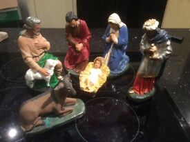 Nativity Figures (antique hand painted)