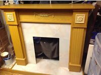 Light oak fire surround