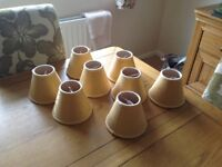 8 gold lampshades in excellent condition