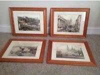Framed old Aberdeen prints