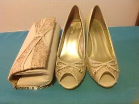 Wedding bag and shoes lotus brand