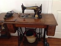 Singer electric/treadle sewing machine