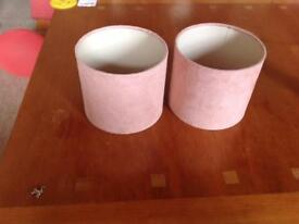Pink suede effect lamp shades